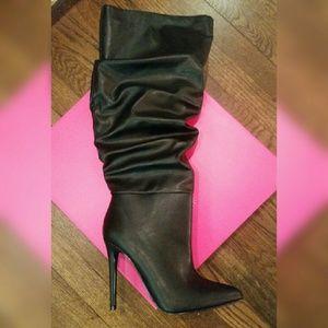 NEW sz 8 wide calf heeled boots